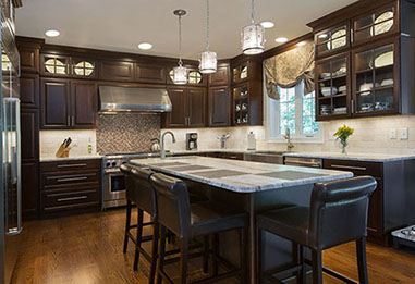dark cherry kitchen. Interior Design Ideas. Home Design Ideas