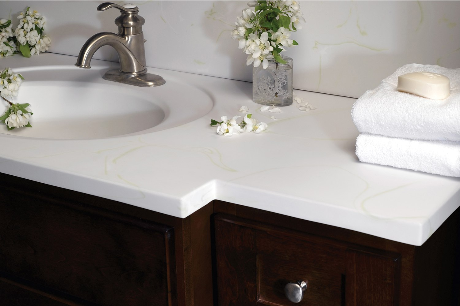 Corian Bathroom Vanity Tops : Bertch bath oasis vanity tops available