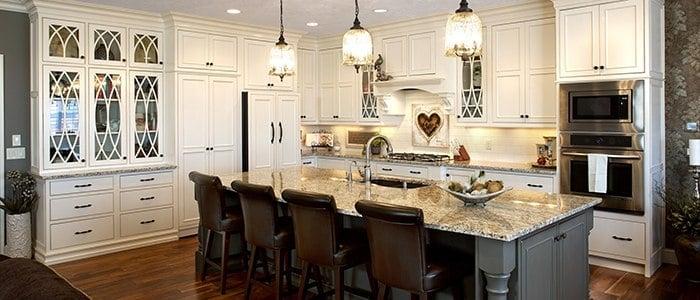 touchstone kitchen in white touchstone cabinets showplace inset door wood finish white kitchen with gray island. Interior Design Ideas. Home Design Ideas
