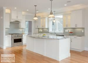White Kitchen New Construction
