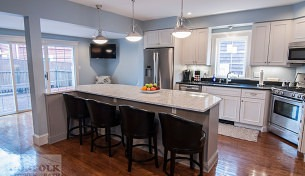 Functional Gray Boston Kitchen
