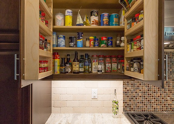 Spice cabinet with Spice rack doors