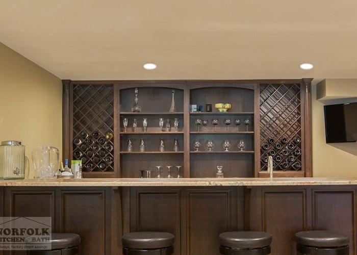 Cherry Bar with wine racks