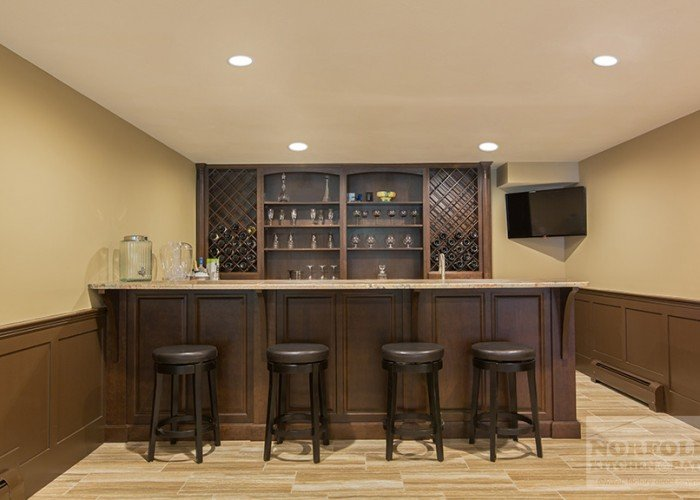 Cherry Bar with seating for four