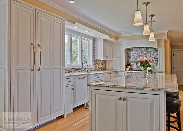 Westford Kitchen Remodel With White Cabinets And Granite
