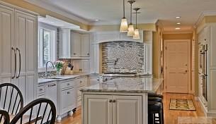 Westford white kitchen with large island