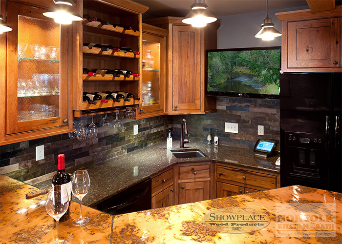 Showplace Rustic Hickory Kitchen ...