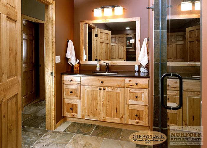 hickory bathroom vanity menards rustic lowes cabinets showplace