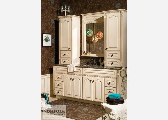 Off-white decorative vanity