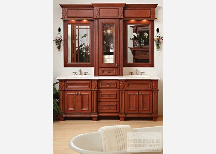 Double Vanity With tall center cabinet