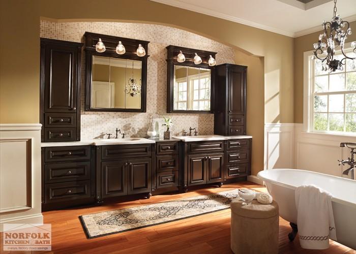 large double vanity set up