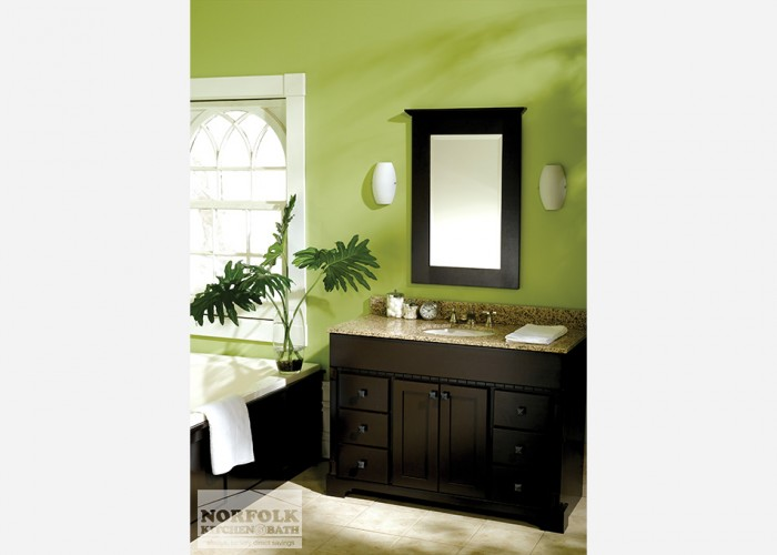 dark woodtone 6 drawer vanity