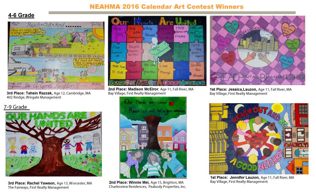 Calendar Drawing Contest : Neahma calendar art contest norfolk kitchen bath