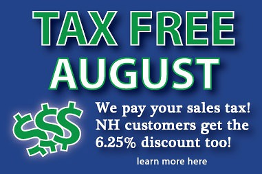 Tax Free Kitchen cabinets in August