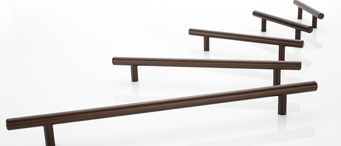 modern bar cabinet pulls in an oil rubbed bronze finish