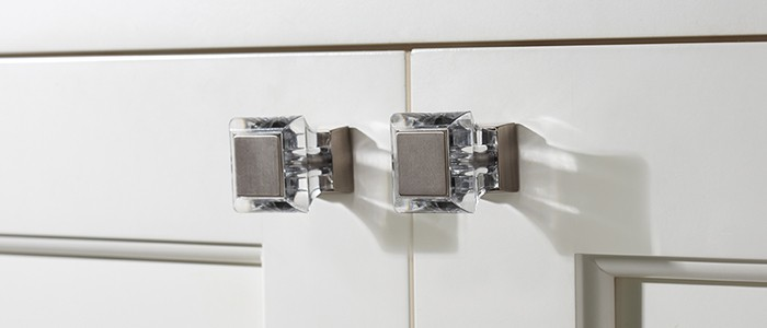 silver and glass nickel cabinet knobs