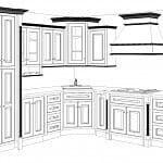 wireframe of kitchen design