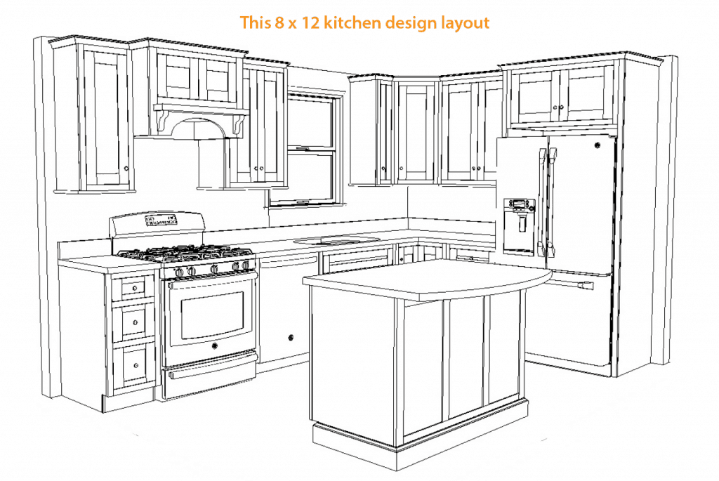 Floor Plans U Shaped Kitchen With Islandplansfree Download Home. 8 By 12  Kitchen Layout ... Great Pictures
