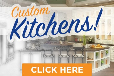 Custom kitchen cabinets and countertops