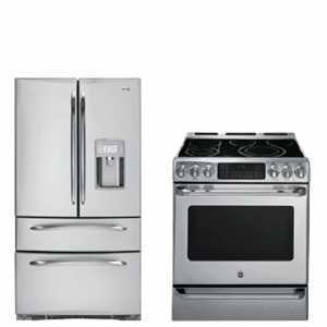 stainless refer and stove