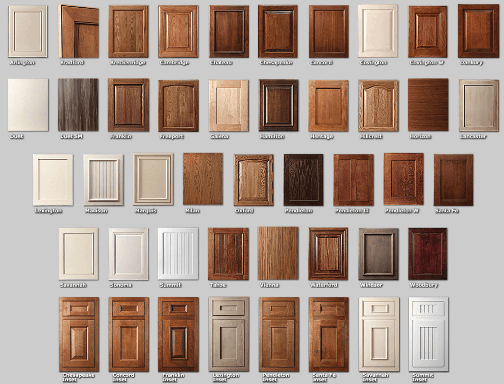 over 40 different cabinet door styles