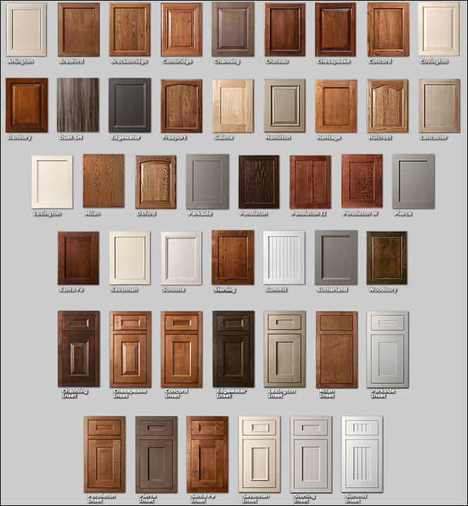 Showplace Cabinetry Door Styles