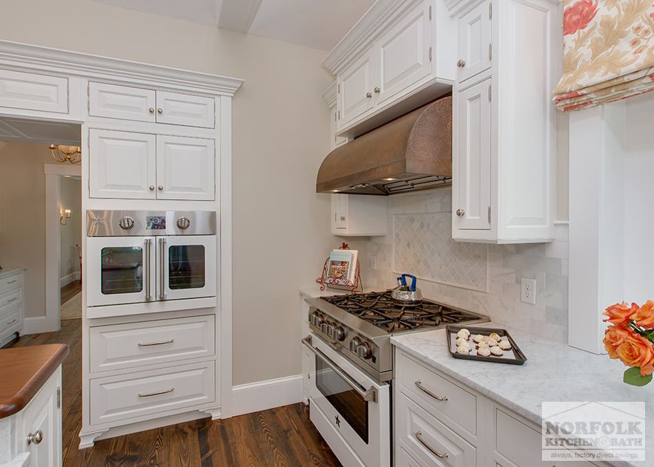 Classic White New England Kitchen