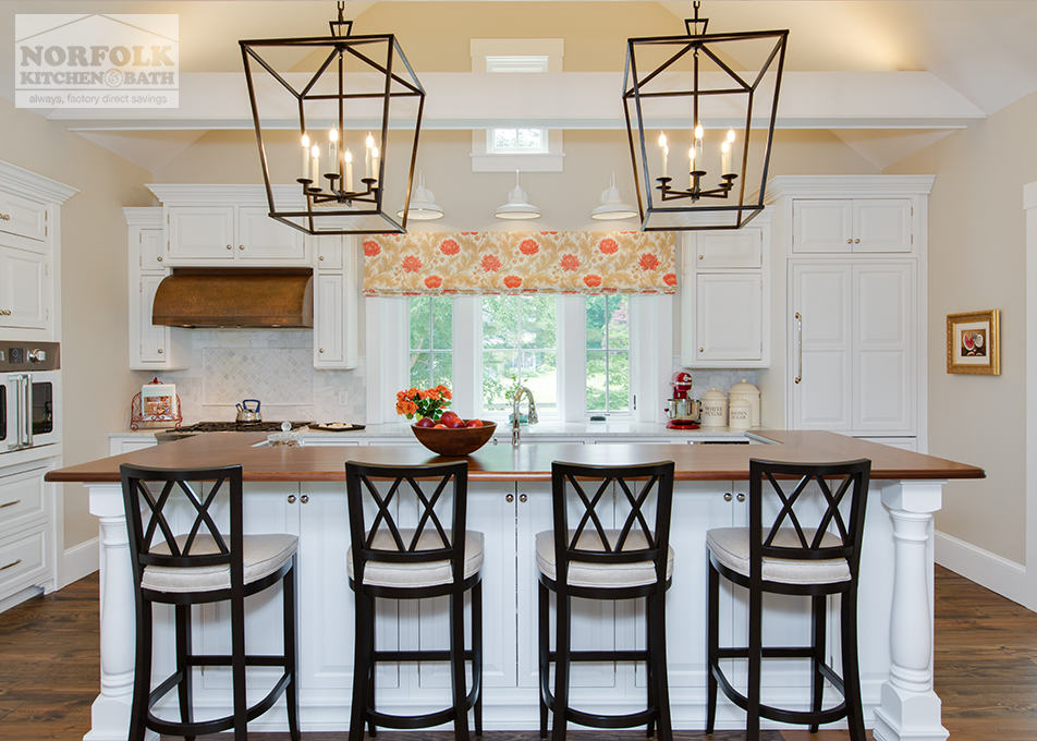 Classic White New England Kitchen - Norfolk Kitchen & Bath