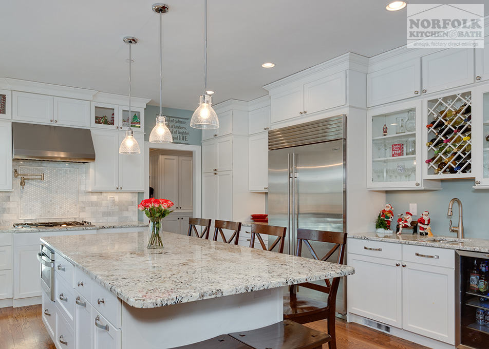 Festive White Kitchen New Construction