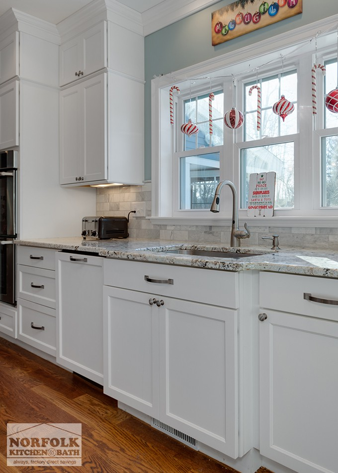 Festive White Kitchen New Construction