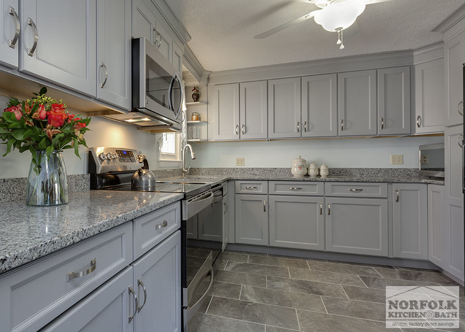 Transitional Gray Kitchen In Hudson Nh Norfolk Kitchen