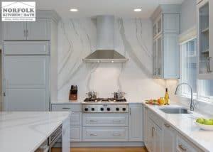full height cambria kitchen backsplash