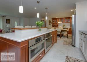 Multi-level kitchen island