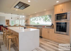 Modern kitchen island with hood