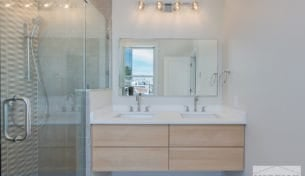 Contemporary Bathroom With Floating Vanity