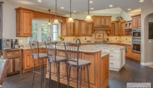Traditional Showplace Kitchen With Granite