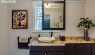 Showplace Bathroom With Sliding Mirror