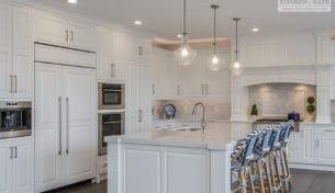 Custom White Kitchen With Quartz