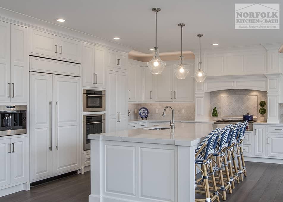 Custom White Kitchen With Quartz Norfolk Kitchen Amp Bath
