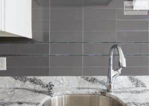 grey custom kitchen backsplash tile