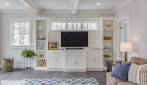 White Entertainment Center & Dining Hutch