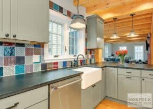 handmade ceramic kitchen backsplash