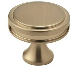 satin brass kitchen hardware knob