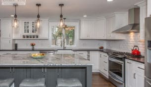 White & Gray Transitional Kitchen