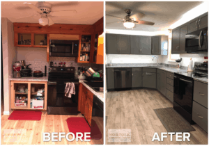 kitchen remodel nashua before and after