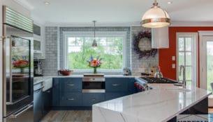 Modern Blue Chef's Kitchen