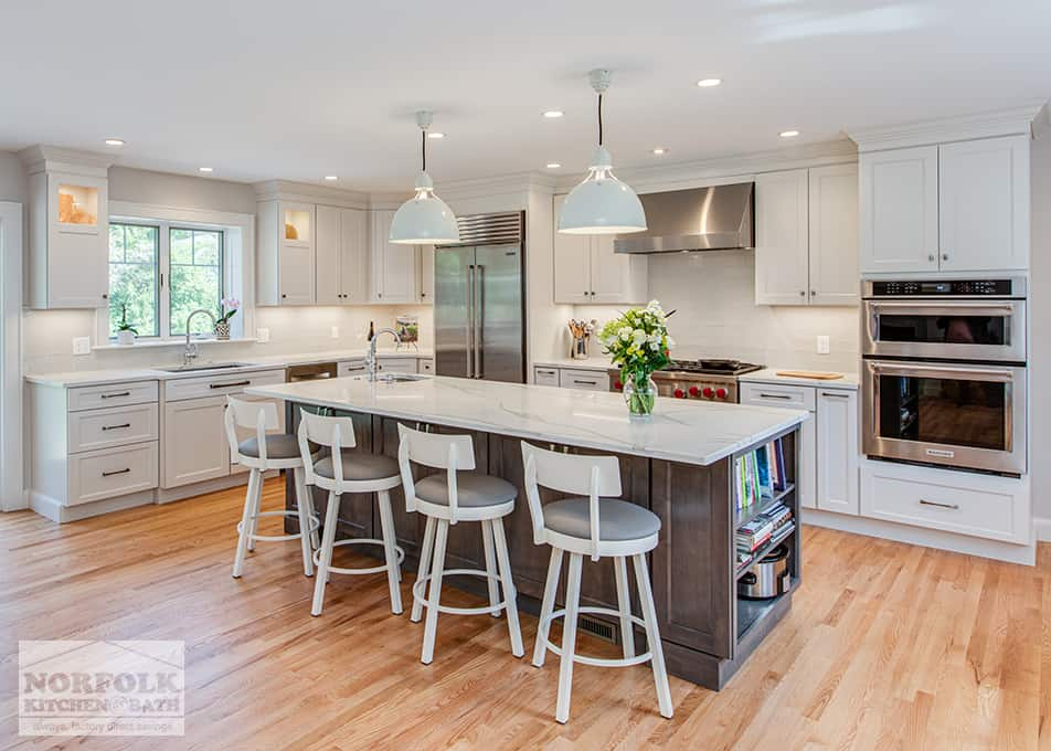 Extra Large White Kitchen With Accent Island - Norfolk ...