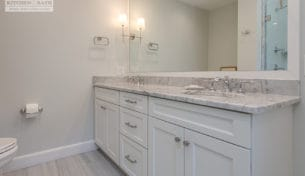 White Showplace Guest Bathroom