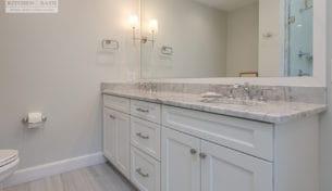 White Showplace Guest Bathroom