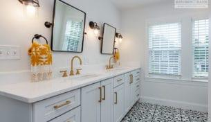 Black, White & Gold Bathrooms